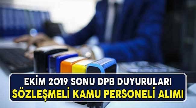 DPB Sözleşmeli Personel Alım Duyuruları Kurumlar 2019 Ekim Sonu