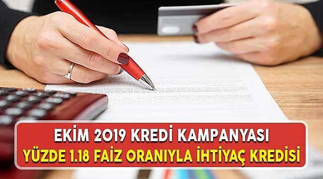 Ekim 2019 Sonu Türkiye Ekonomi Bankası (TEB) Düşük Faizle İhtiyaç Kredisi Kampanyası