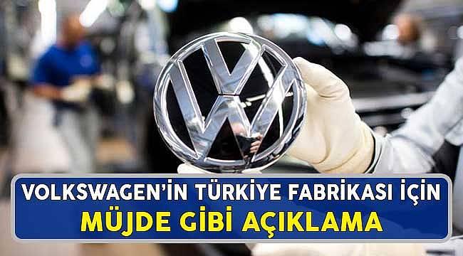 Volkswagen'in Manisa Fabrikasının Geleceği için Müjde Gibi Resmi Açıklama