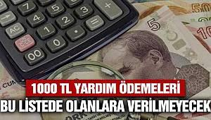 1000 Lira Sosyal Destek Ödemeleri 5 Maddelik Listede Olanlara Verilmeyecek