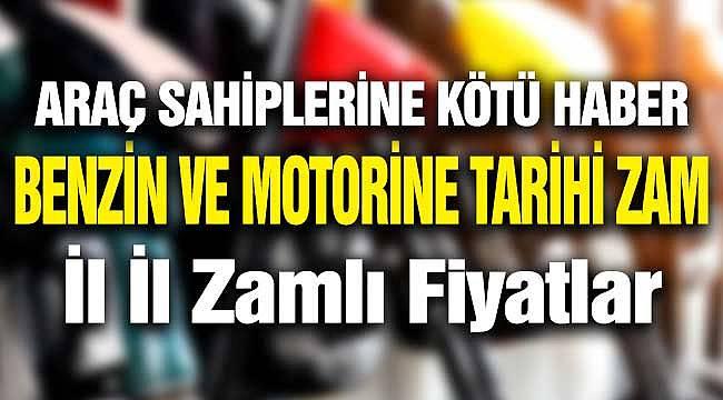 Petrol Arttı Benzin ve Motorine Tarihi Zam Geldi! İstanbul, İzmir, Ankara için Zamlı Fiyat Listesi