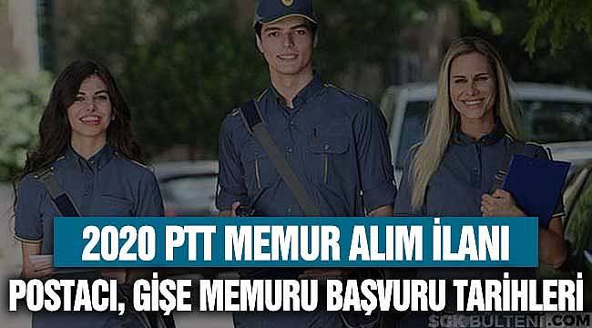PTT 2020 Memur Kadroları! Postacı, Gişe Personeli, Uzman Başvuru Tarihleri