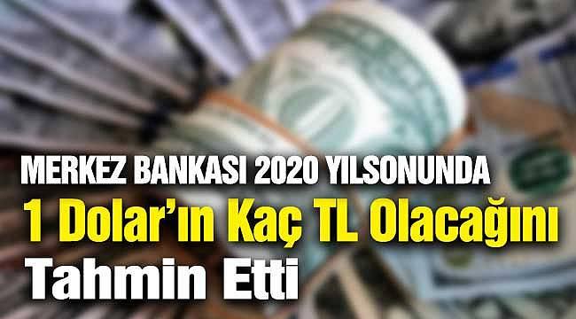 Merkez Bankası 2020 Yılsonunda 1 Dolar'ın Kaç TL Olabileceğini Açıkladı