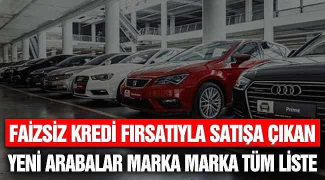 Sıfır Faiz ile Faizsiz Satılan Yeni Araba Satış Kampanyaları