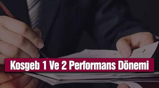 Kosgeb 1 Ve 2 Performans Dönemi