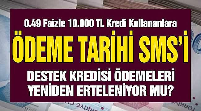 Ziraat Bankası 10000 TL 0.49 Faizli 6 Ay Ödemesiz Bireysel Destek İhtiyaç Kredisi Çekenler! Ziraat Bankası'ndan Ödeme Tarihi SMS Uyarısı Geldi, Ödeme Planı Sorgulama Ekranı
