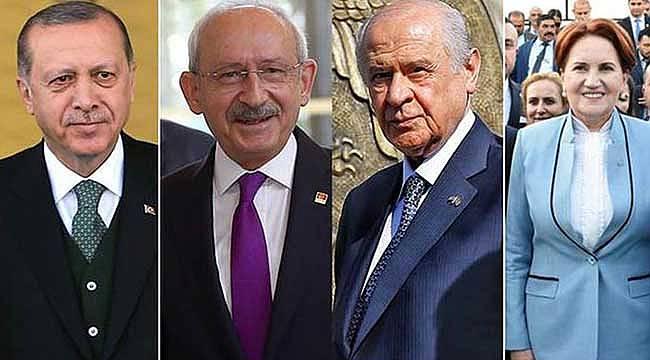 Yılın Son Anketi! Cumhur İttifakı ve Millet İttifakın Parti Parti Oy Oranları