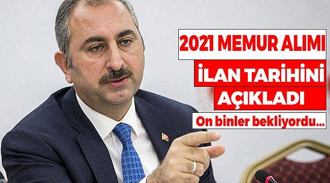 Adalet Bakanlığı 2021 Memur Alımı İlan Tarihi Açıklandı! Resmi Açıklama Bakan Gül'den