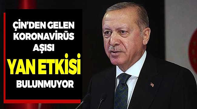 Cumhurbaşkanı Erdoğan Covid-19 Aşısının Yan Etkisi Olmadığını Vurguladı