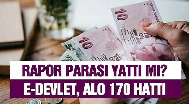 Rapor Parası Sorgulama! e-Devlet ve SGK Alo 170 Ara Öğren