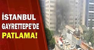 İstanbul Gayrettepe'de İş Merkezinde Patlama Anı - Video
