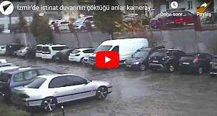 İzmir'de İstinat Duvarı Onlarca Aracın Üzerine Çöktü!